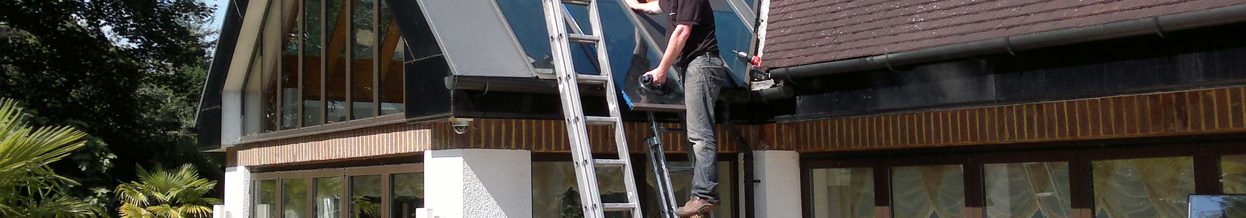 Roof glazing and skylights reglazed